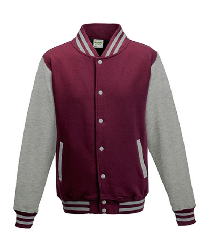 Burgundy - Heather Grey