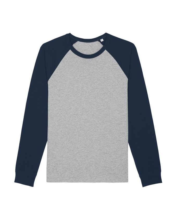 heather grey - french navy