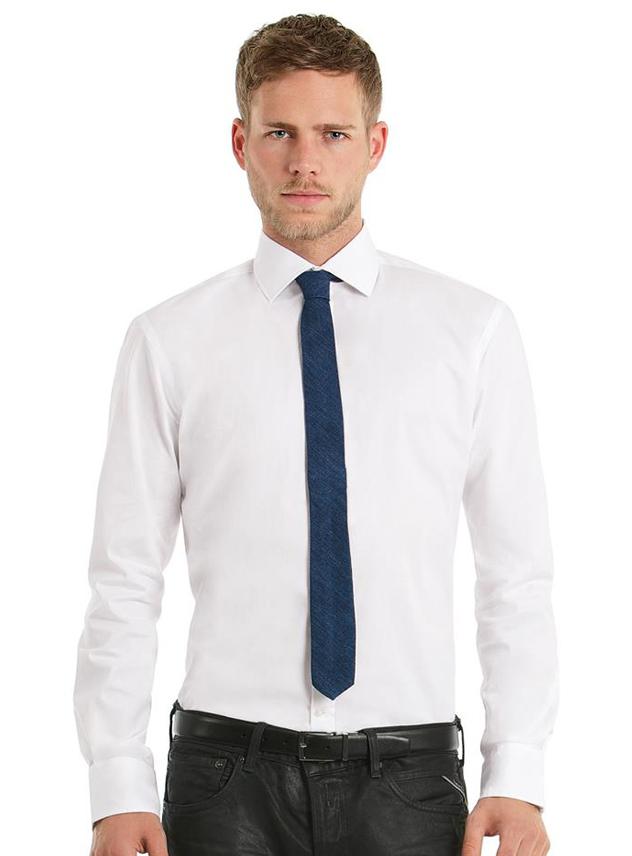 Overhemd Poplin B&C Black Tie
