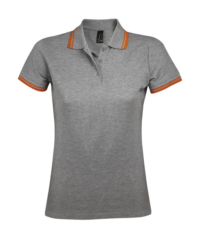 grey melange- orange