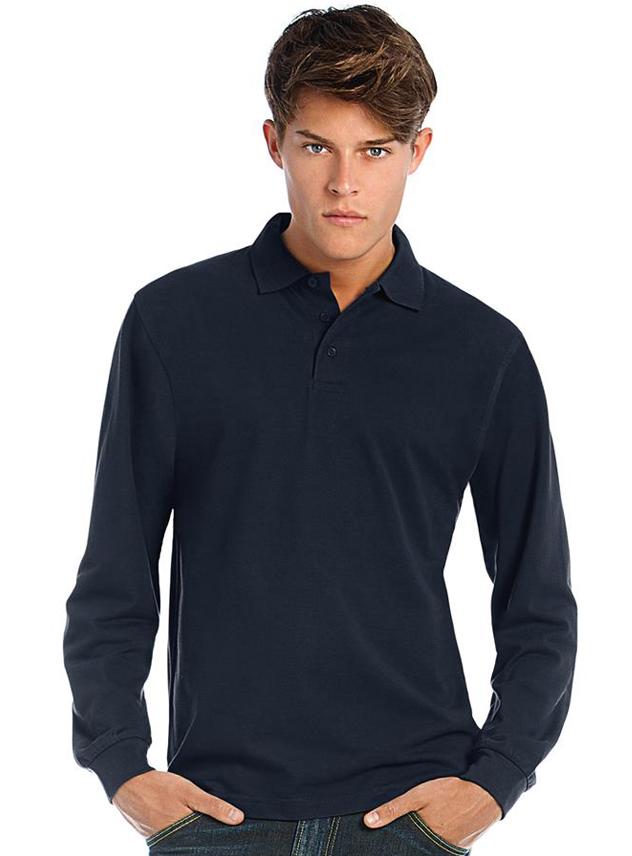 Poloshirt long sleeve B&C Heavymill