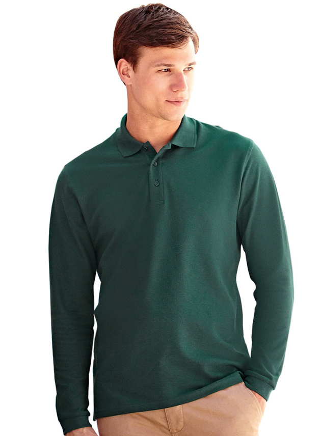 Poloshirt long sleeve Fruit Premium