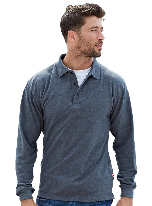 Poloshirt long sleeve Santino Matt