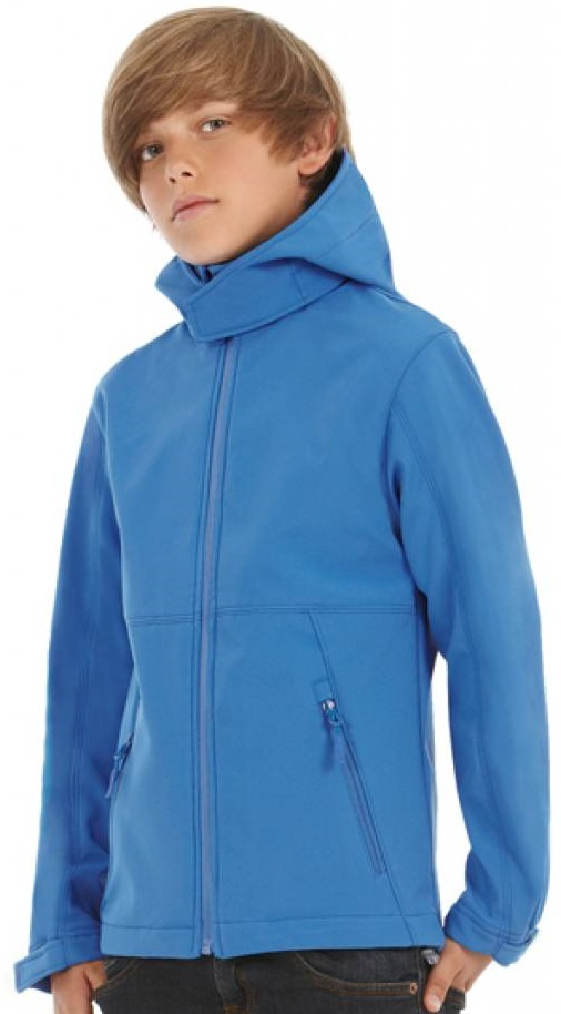 Softshell Jas Kinder B&C Hooded