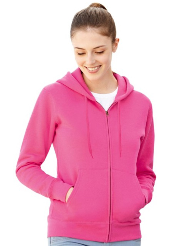 Sweater dames Fruit Hooded Lady-fit Zip