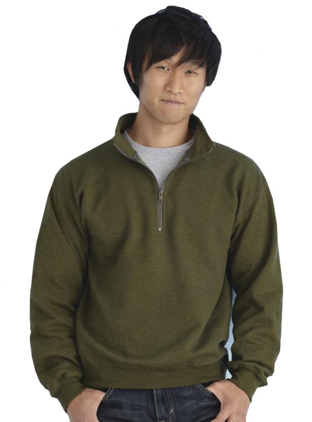 Sweater Gildan 18800 korte rits