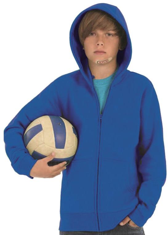 Sweater kinder B&C Hooded hele rits