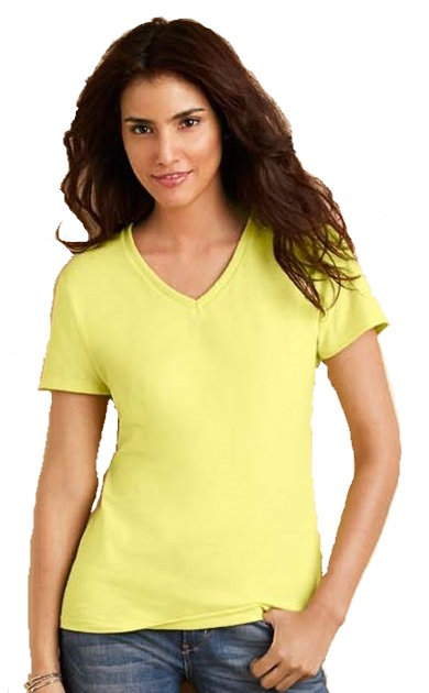 T-shirt dames Gildan 4100L V neck