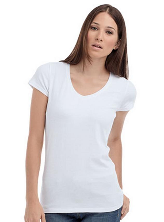 T-shirt dames STE 9710 V-neck Lycra