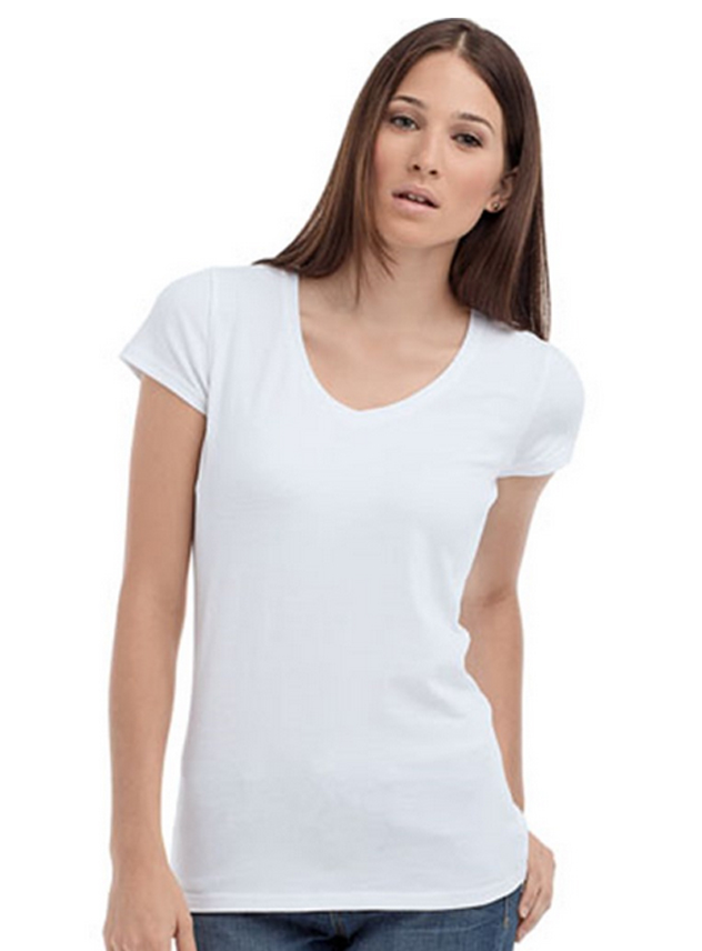 T-shirt dames STE 9710 V-neck Lycra