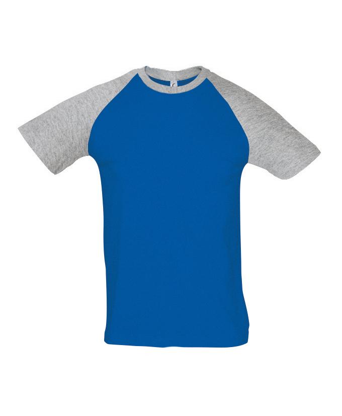 royal blue- grey melange