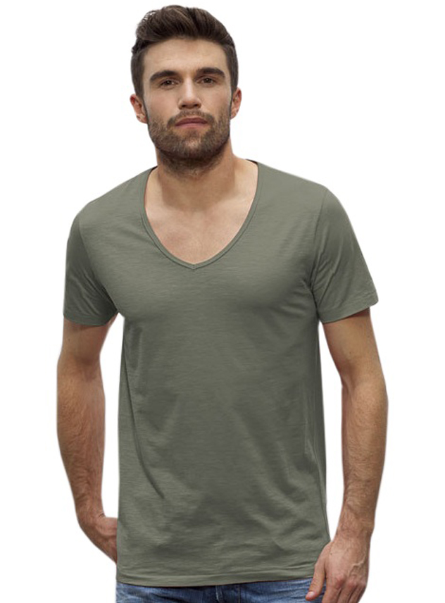 T-shirt heren Stanley Hopes Slub V-neck