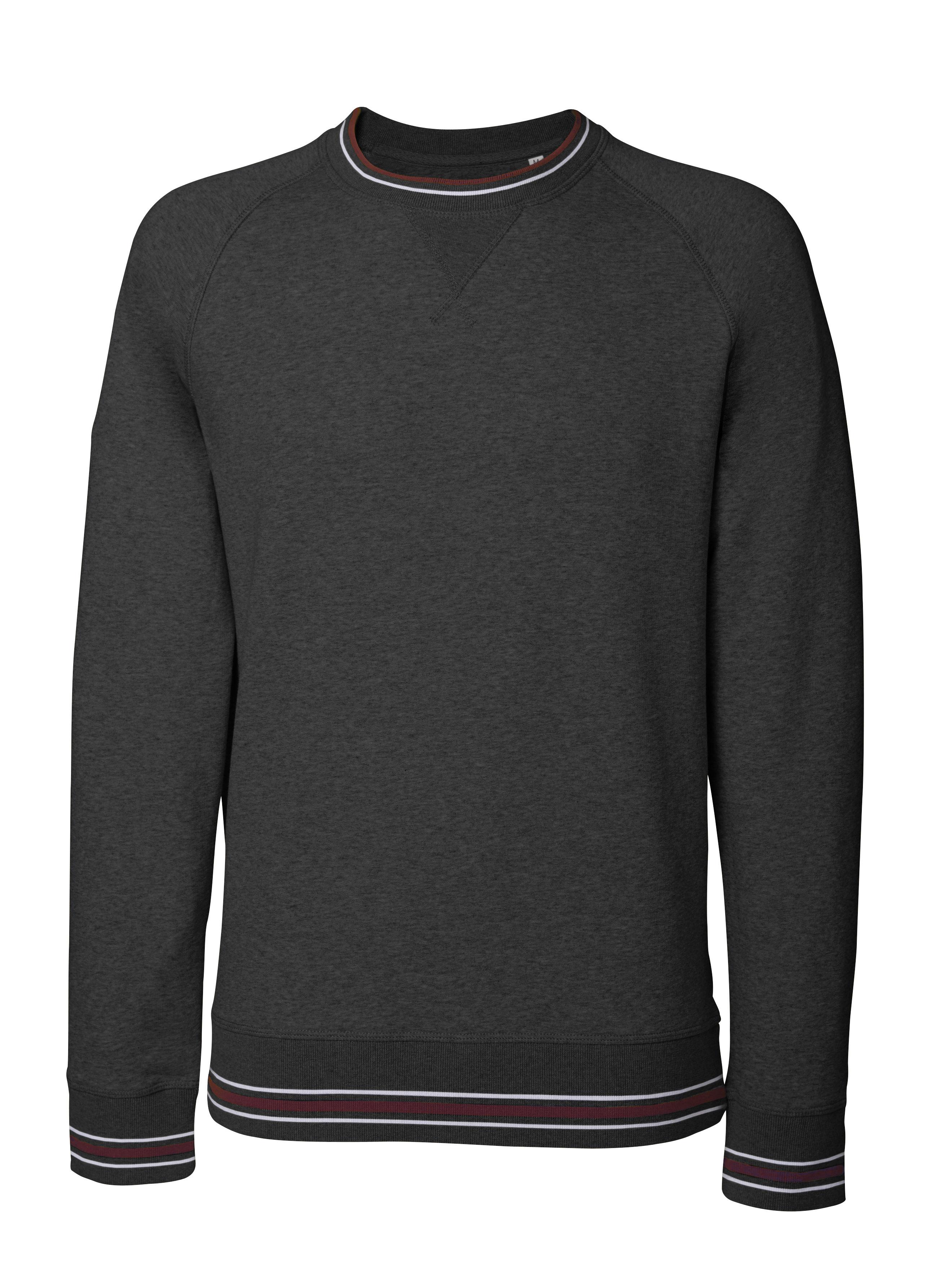 dark heather grey - white - burgundy