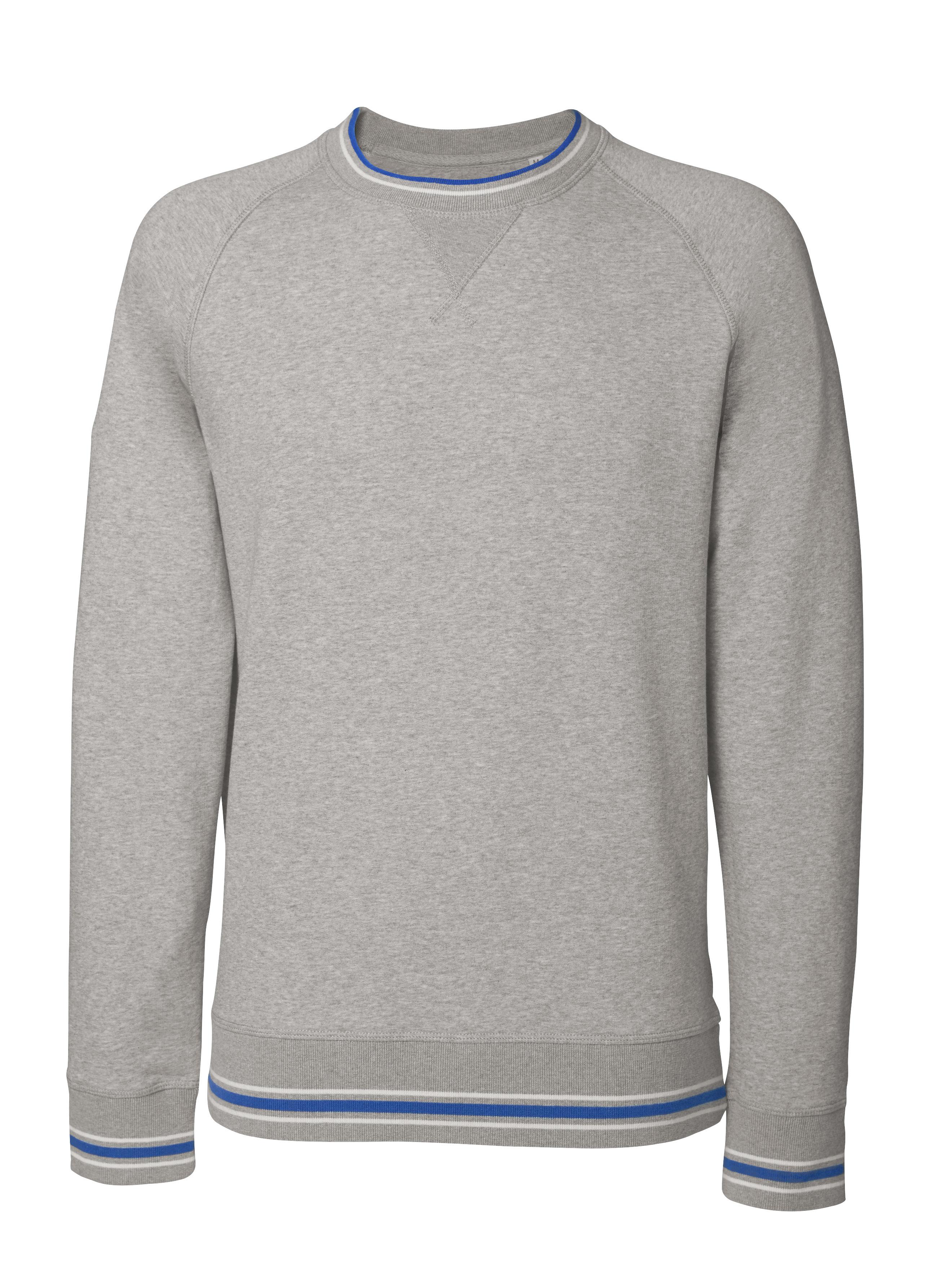 heather grey - white - deep royal blue